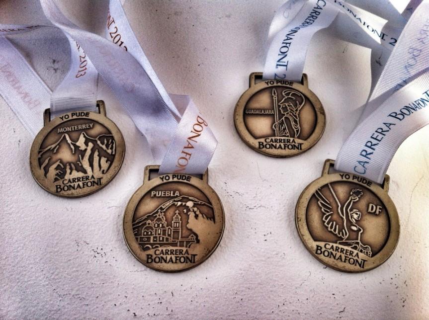 medallas carrera bonafont 2013