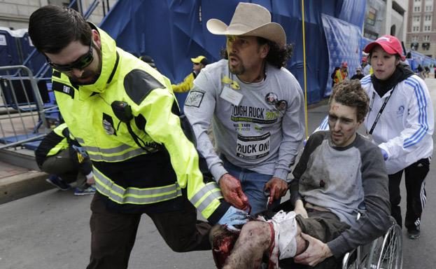 herido injuried boston marathon explosion