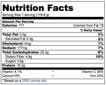 nutrimental info protein hot cakes proteicos