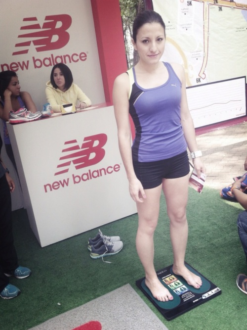 prueba de pisada new balance carrera record 11k