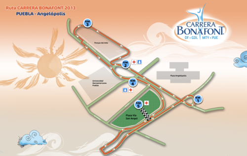 ruta carrera bonafont 2013 puebla pue