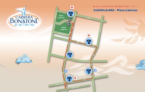 ruta carrera bonafont gdl guadalajara 2013