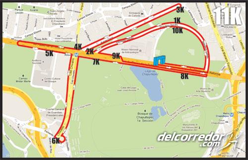 ruta carrera record 11k
