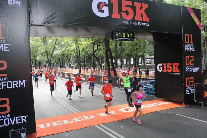 carrera gatorade 15K 1 meta