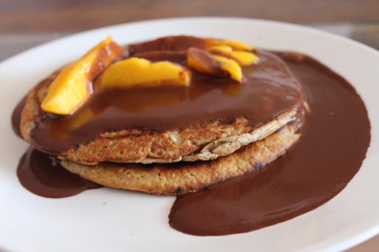 hot cakes avena linaza chía mango plátano chocolate banana