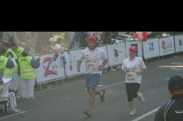 En mi primer 10K, que corrí en 1:15