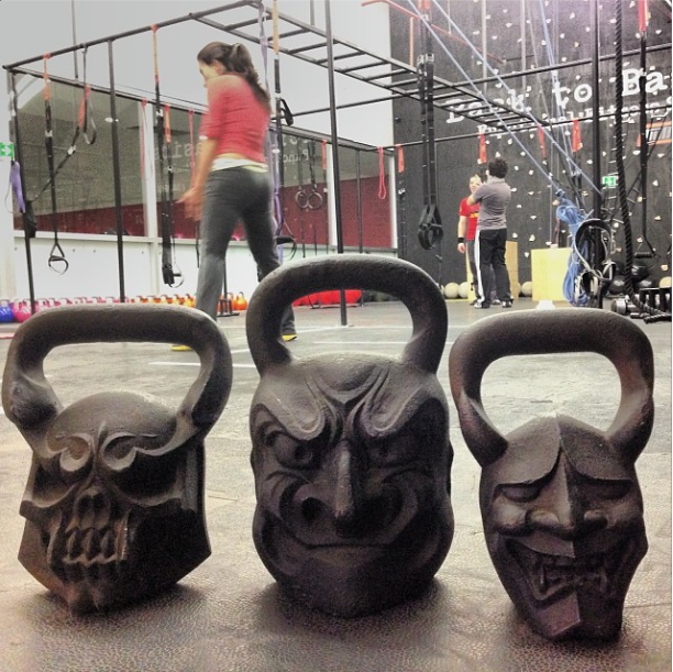 kettlebells face fun
