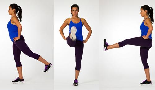 Single-Leg-front-Raises-Exercise