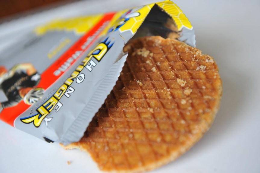 Waffle de miel o chocolate de Honey Stringer